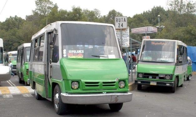 Costaría 15 mil mdp sustituir 16 mil microbuses