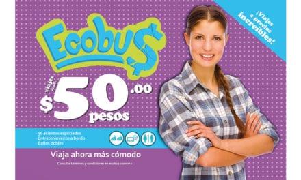 Apoya ADO la economía de los viajeros con ECOBUS
