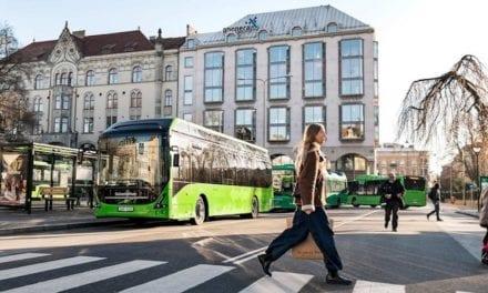 13 autobuses eléctricos de Volvo en Malmo