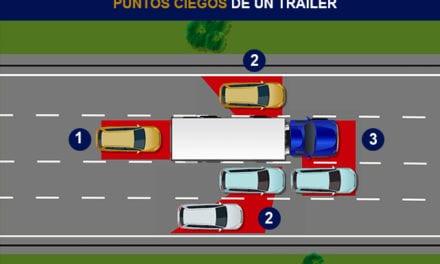Precauciones al conducir cerca de un camión