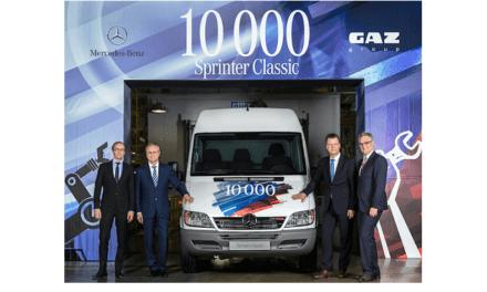 Produce Mercedes-Benz su Sprinter Classic 10,000 en Rusia