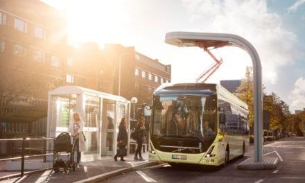 Inaugura Volvo estación de carga para autobuses eléctricos