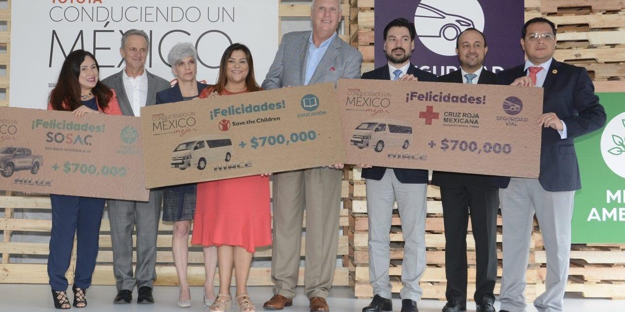 Toyota entrega recursos del programa Conduciendo un México Mejor