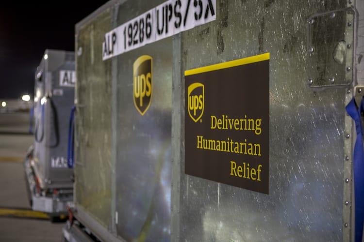 UPS, un pilar de ayuda humanitaria