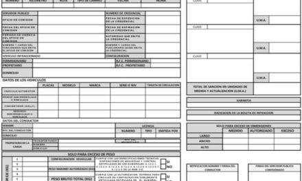Publican boleta de infracción para el autotransporte federal