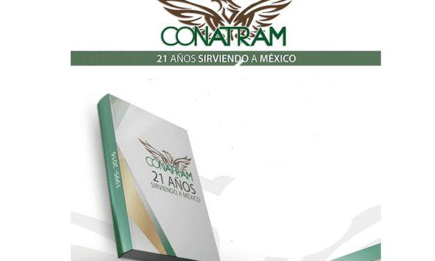 Festeja Conatram 22 aniversario con libro conmemorativo