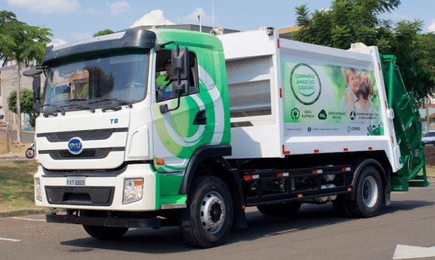 Corpus adopta flota con camiones eléctricos BYD