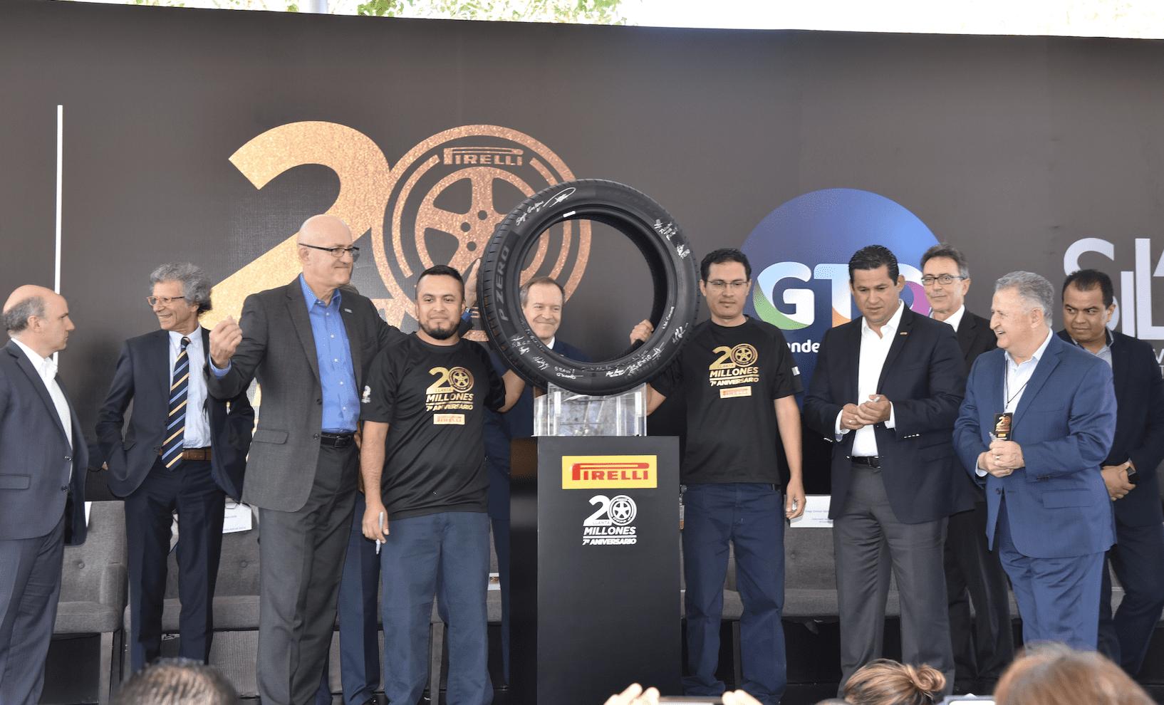 Llega Pirelli México a 20 millones de llantas producidas