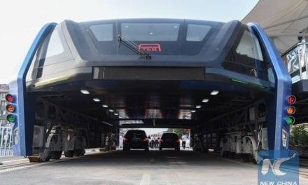 Prueban en China innovador  transporte