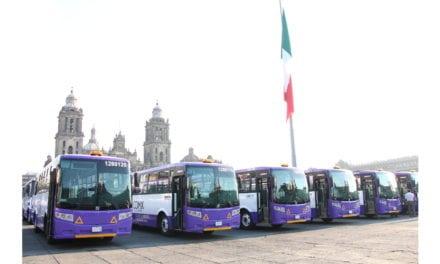 148 autobuses DINA renovarán el Sistema M1 de la CDMX
