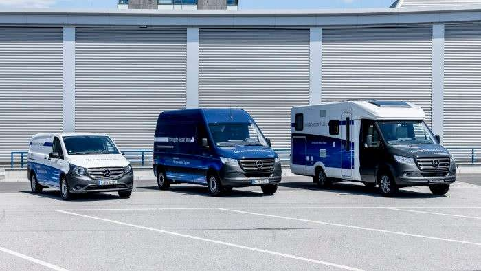 Vanes eléctricas de Mercedes-Benz para la vida urbana