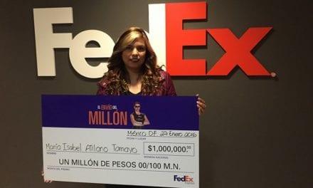 Anuncia FedEx Express ganadora de «El Envío del Millón»