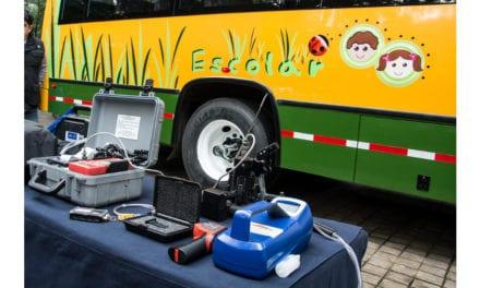 Instalarán 105 filtros de partículas en autobuses escolares