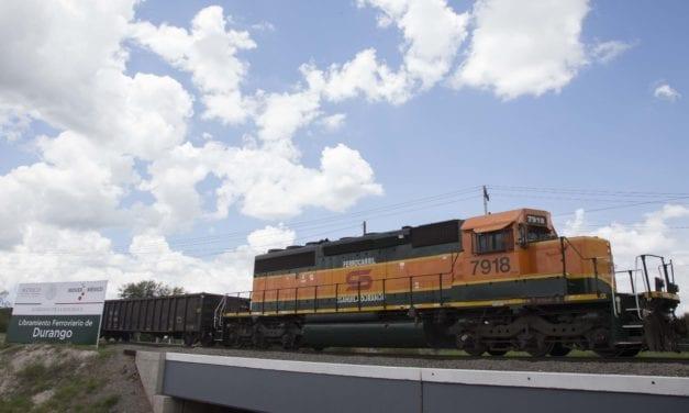 Inauguran libramiento ferroviario en Durango