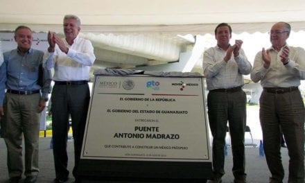 Entregan obras que estimulan el progreso de Guanajuato