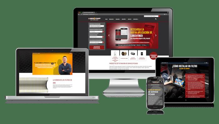 Disponible sitio web de Luber-finer en español