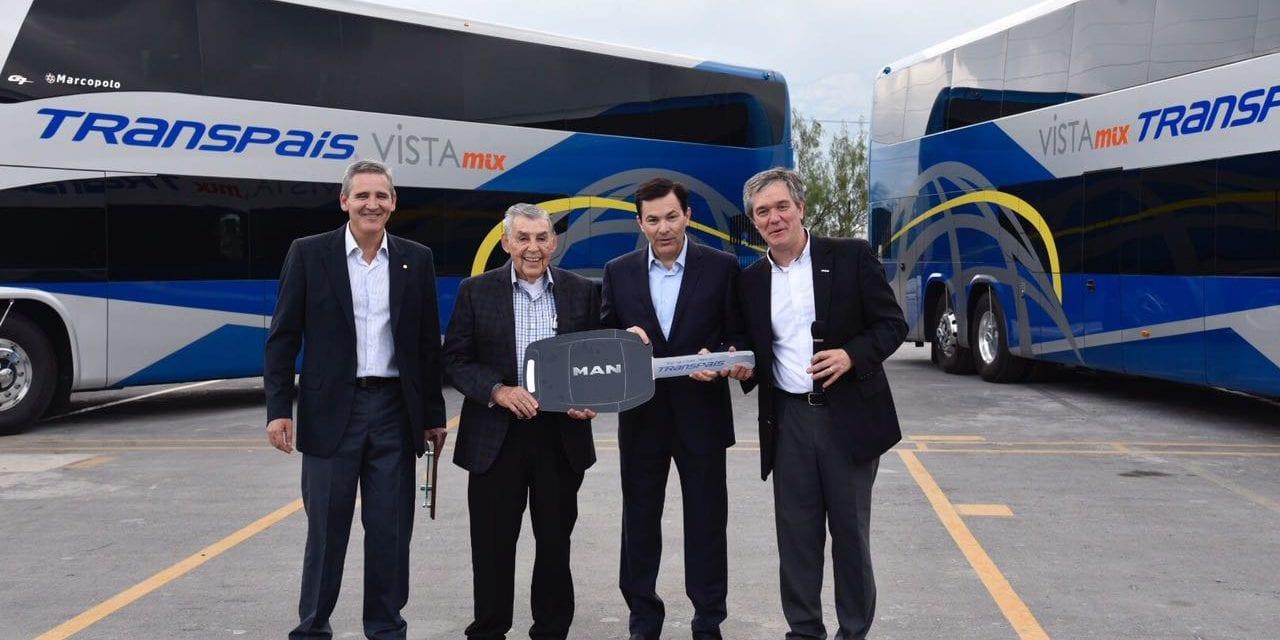 Recibe Transpaís 12 autobuses DD MAN-Marcopolo