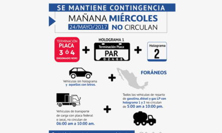 Continúa restricción vehicular por alta contaminación