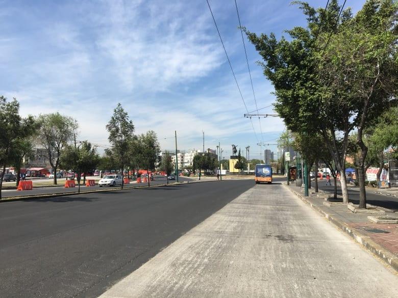 Avance del 37% en obras de L-7 del Metrobús, en Reforma