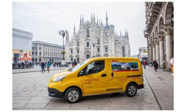 Incorpora DHL Italia 50 e-NV200 de Nissan