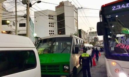 Semov envía a corralón 102 unidades de transporte público