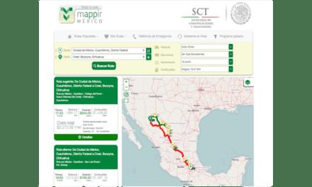 Ofrece Mappir guía para viajar en carretera