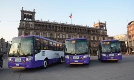120 autobuses DINA correrán en eje 5 y 6 de la CDMX