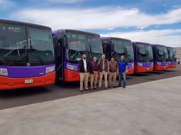 10 autobuses DINA Linner para Autotransports Cabo Baja