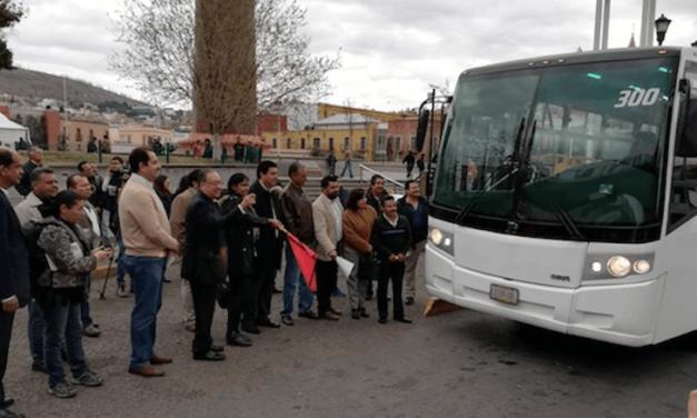 Prueba Zacatecas autobús DINA a gas natural