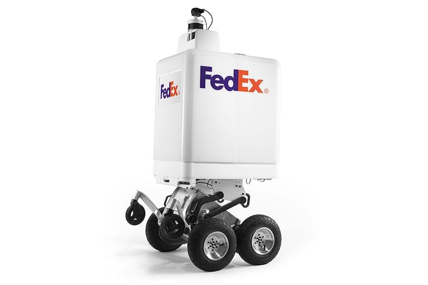 Presenta FedEx un robot de entrega autónomo