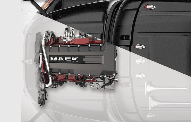 Motor Mack MP8-Magazzine del Transporte