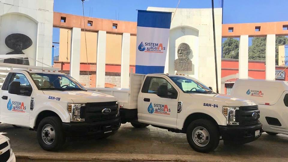 Sistema Aguas de Huixquilucan estrena flota de 23 unidades