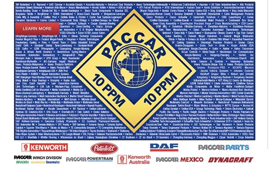 PACCAR reconoce la calidad de sus proveedores