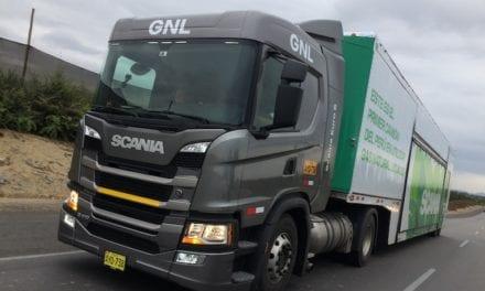 Rueda en Perú camión Scania a GNV