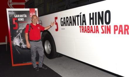 Aumenta Hino garantía de sus autobuses
