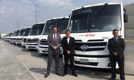 30 autobuses DINA estrenan Grupo Senda y Rockwell