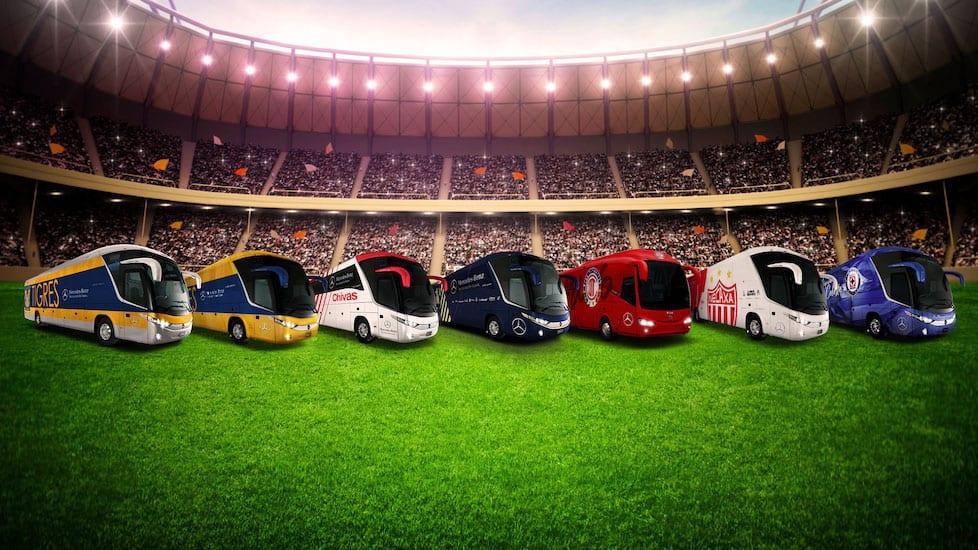 Transporta Mercedes-Benz a los mejores del futbol