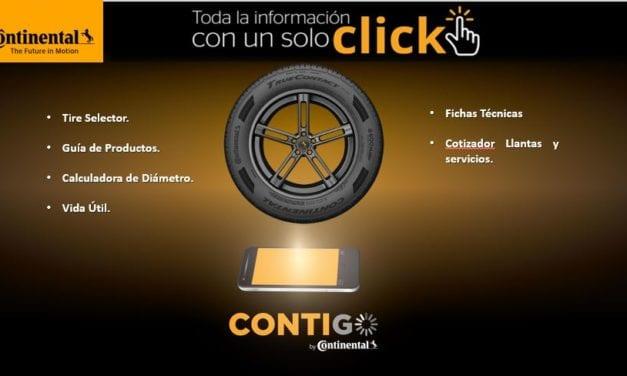 Lanza Continental Tire nueva aplicación CONTIGO
