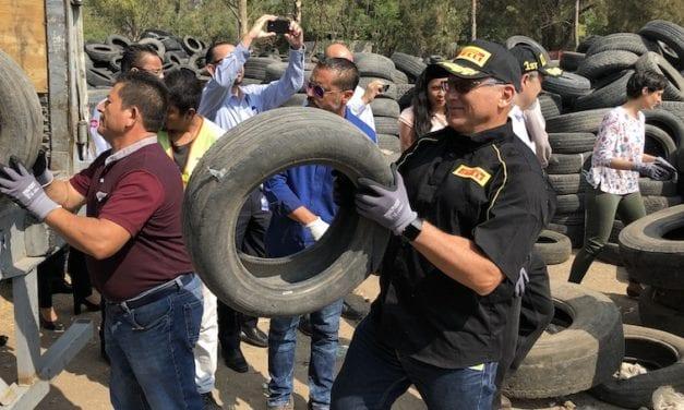 Apoya Pirelli el reciclaje de neumáticos