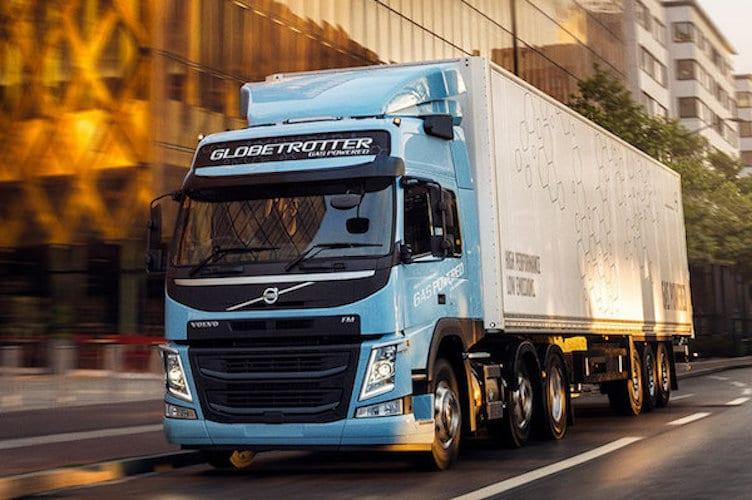 Prueba estudio eficiencia de camiones Volvo a gas