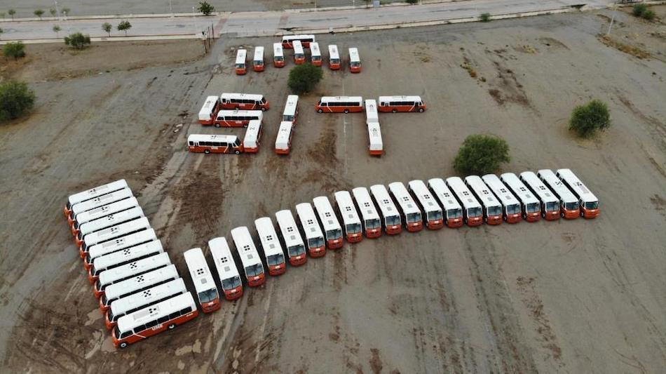 En Hermosillo circulan nuevos autobuses DINA