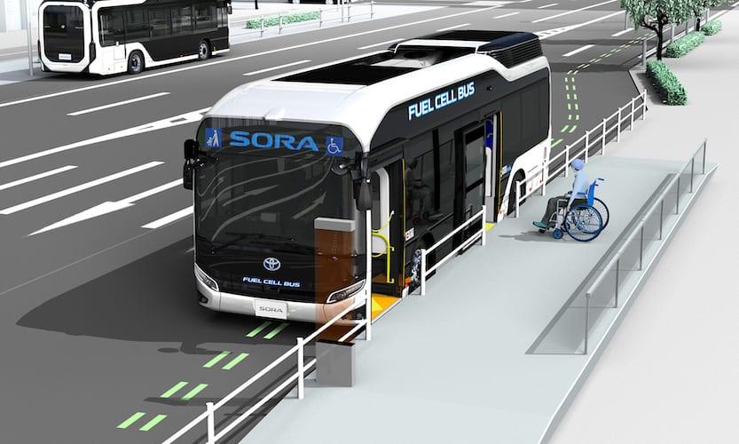 Mejora Toyota la seguridad del autobús Sora