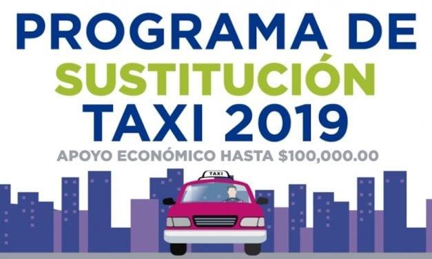 Programa de sustitución de taxis en CDMX