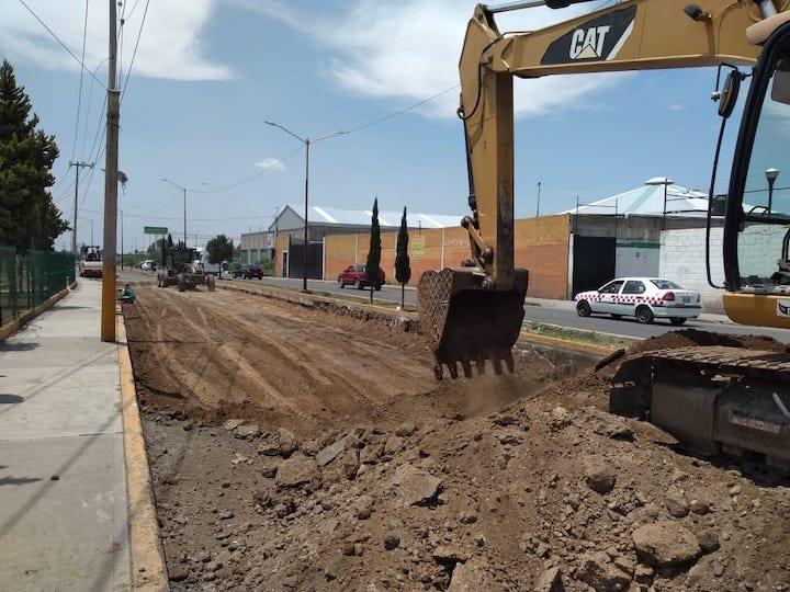 Reconstruye Edomex vías en Chicoloapan