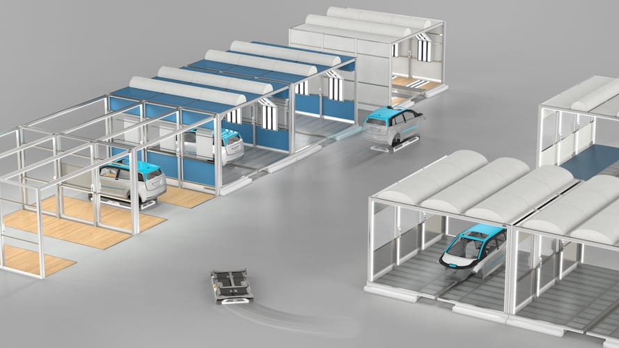 Facilita Dürr pintado modular flexible y escalable-Magazzine del Transporte