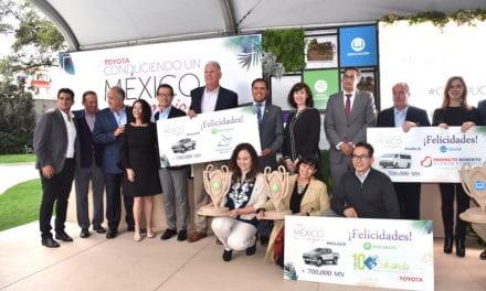 Premia Toyota a 3 organizaciones por «Conduciendo un México Mejor»