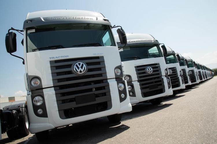250 camiones VW recibe arrendadora de Brasil