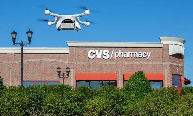 Entrega empresa a consumidor con dron UPS