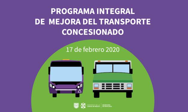 Mil mdp para mejorar transporte público concesionado