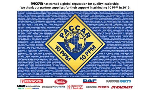 Entrega PACCAR premio a la calidad 10 ppm